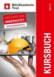 Bauakademie Tirol Kursprogramm 2021-22 ABAU