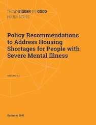 Policy Recommendations to Address Housing Shortages for People with Severe Mental Illness