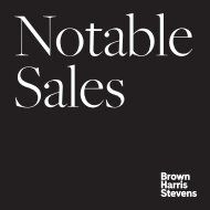 Notable Sales July 2021