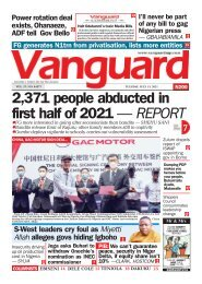 13072021 - 2,371 people abducted in first half of 2021 — REPORT