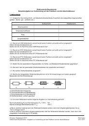 Elektronische Bauelemente Beispielaufgaben zur ... - FB ET/IT
