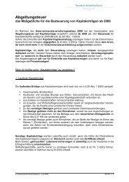 Abgeltungsteuer - Steuerkanzlei Weichselbaum