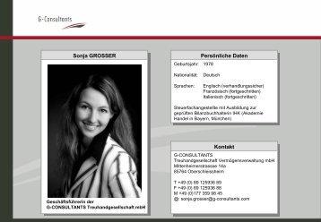 Download Profil Sonja Grosser (pdf) - bei G-Consultants