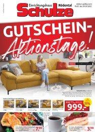 Einrichtungshaus Schulze Rödental - Gutschein Aktionstage