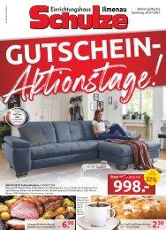 Einrichtungshaus Schulze Ilmenau - Gutschein-Aktionstage