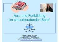 Aus- und Fortbildung im steuerberatenden Beruf - Haubner Schäfer ...