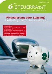 Finanzierung oder Leasing? - Terworth