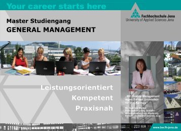 Master Studiengang GENERAL MANAGEMENT - Fachbereich ...