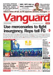 14072021 - Use mercenaries to fight insurgency, Reps tell FG