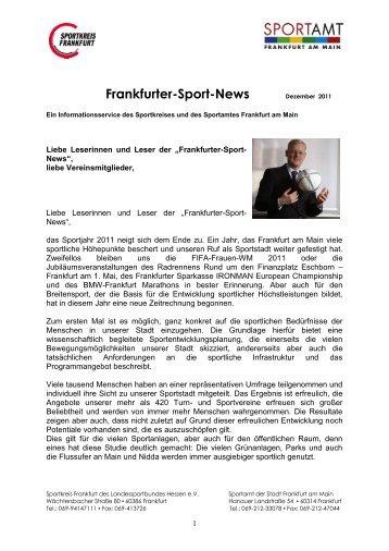 Informationen des Sportkreises - Frankfurt am Main