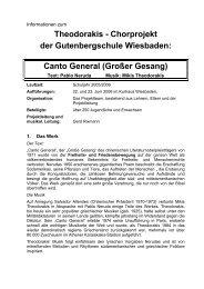 Canto General (Großer Gesang) - Gutenbergschule Wiesbaden