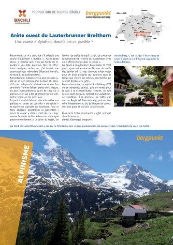 Proposition de Course 08.2021 – Arête ouest du Lauterbrunner Breithorn