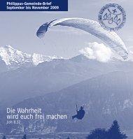 Philippus-Gemeinde-Brief September bis November 2009