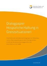 Dialogpapier Hospizliche Haltung in Grenzsituationen