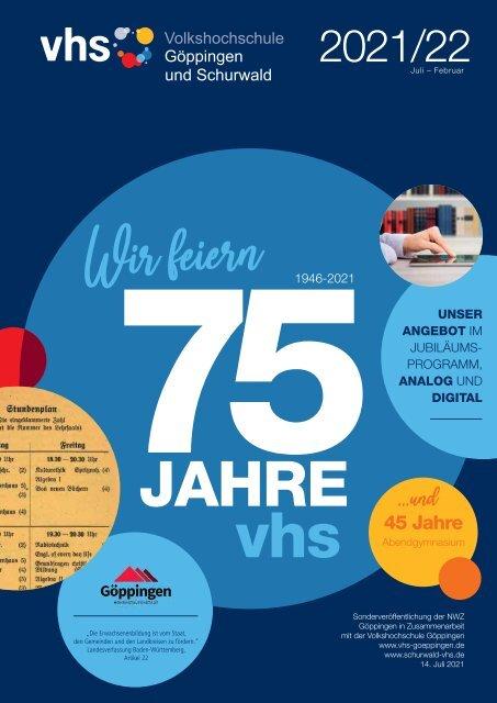 VHS Programm Göppingen und Schurwald 2021/2022