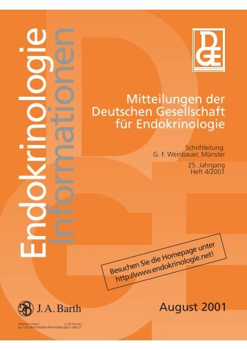 August 2001 - Endokrinologie - DGE