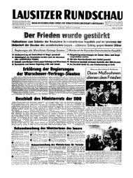 Lausitzer Rundschau Titelseite vom 14. August 1961
