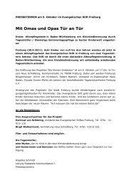 Mit Omas und Opas Tür an Tür - Liga der freien Wohlfahrtspflege in ...