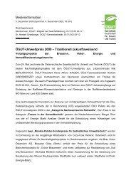 Medieninformation Ögut-Umweltpreis 2009 - e7 Energie Markt ...