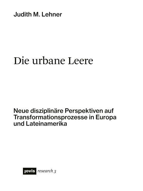 Die urbane Leere