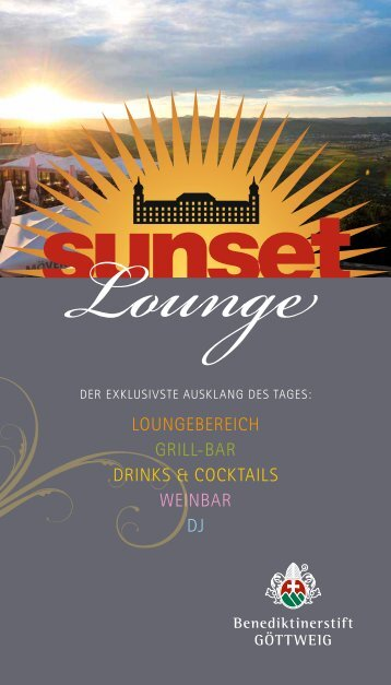loungebereich grill-bAr Drinks & cocktAils WeinbAr DJ