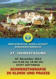 Einladung & Programm - Karl Landsteiner Gesellschaft