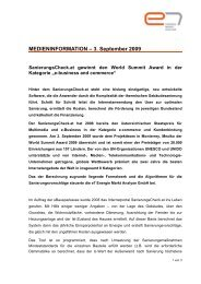 MEDIENINFORMATION – 3. September 2009 - e7 Energie Markt ...