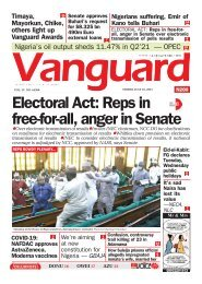 16072021 - Electoral Act: Reps in 8 free-for-all, anger in Senate