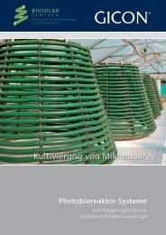 GICON-Photobioreaktor (Mikroalgenkultivierung)