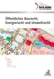 beck-online Öffentliches Baurecht