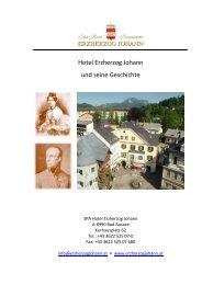 Hotel Erzherzog Johann und seine Geschichte