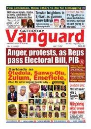 17072021 - Anger protests as Reps pass Electoral Bil, PIB
