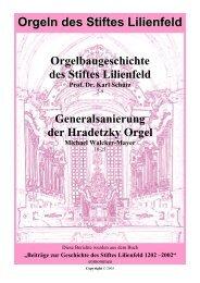 Orgeln des Stiftes Lilienfeld - Walcker-Mayer