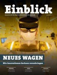 CDU-Magazin Einblick (Ausgabe 13) - Thema: Innovation
