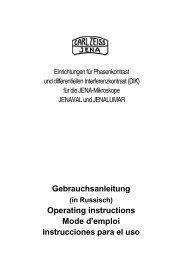Gebrauchsanleitung Operating instructions Mode d'emploi ...