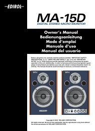 Owner's Manual Bedienungsanleitung Mode d'emploi Manuale d ...