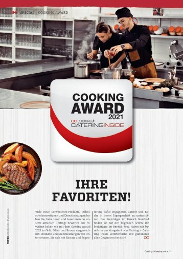 Gewinner Technik: Cooking Award 2021