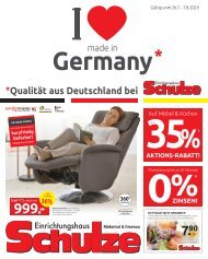 Einrichtungshaus Schulze - Qualität aus Deutschland - Made in Germany