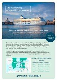 Helsinki-Stockholm cruises