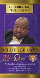 Willie Davis Memorial Program