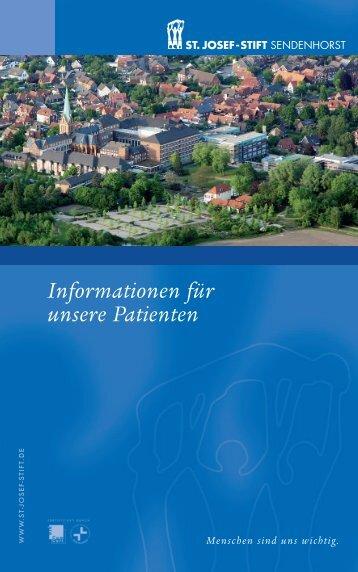 Informationen für unsere Patienten - St. Josef-Stift Sendenhorst