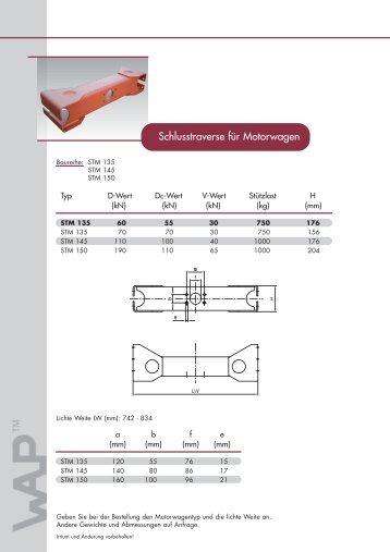 Schlusstraverse für Motorwagen - WAP Fahrzeugtechnik