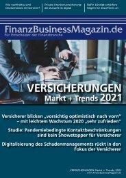 FinanzBusinessMagazin VERSICHERUNGEN Markt + Trends 2021