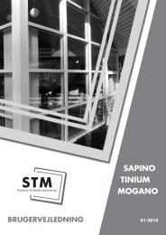 SAPINO TINIUM MOGANO - stm vinduer a/s