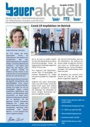 Bauer aktuell - Ausgabe 2/2021 - für Mitarbeiter, Kunden und Partner
