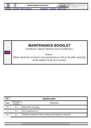 MAINTENANCE BOOKLET