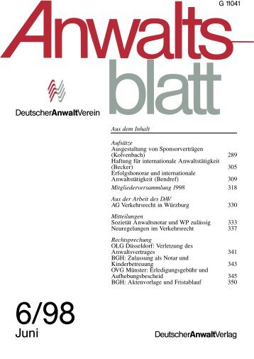 Um_ausse 1..1 - Anwaltsblatt