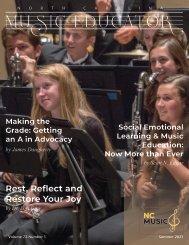 North Carolina Music Educator Journal Summer 2021