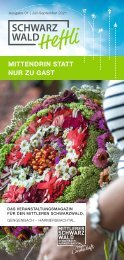 Schwarzwald-Heftli Ausgabe1 Juli-September 2021