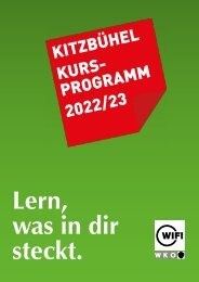 WIFI Kitzbühel Kursprogramm 2021/22
